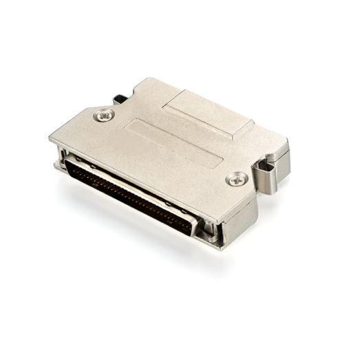 Flexible Metal zinc alloy Male SCSI 68 pin vhdci connector
