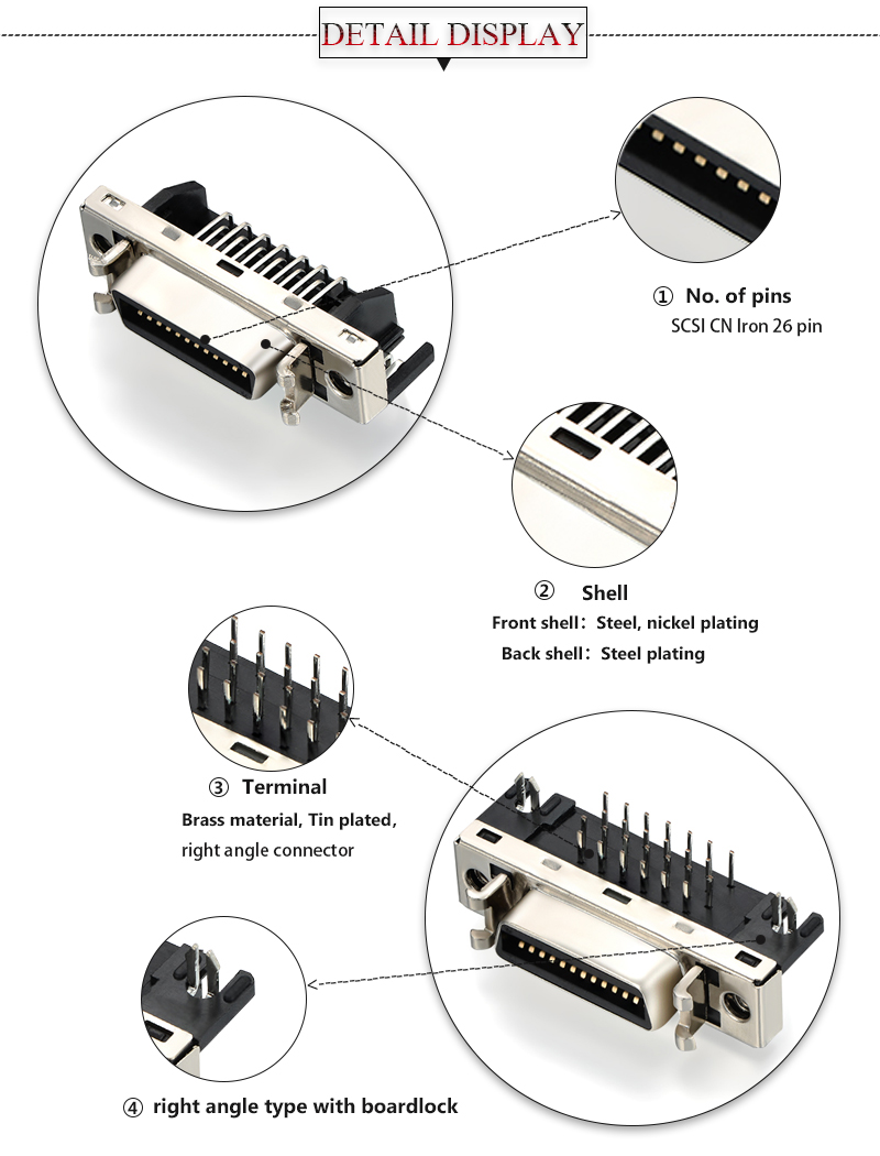 26 pin scsi connector