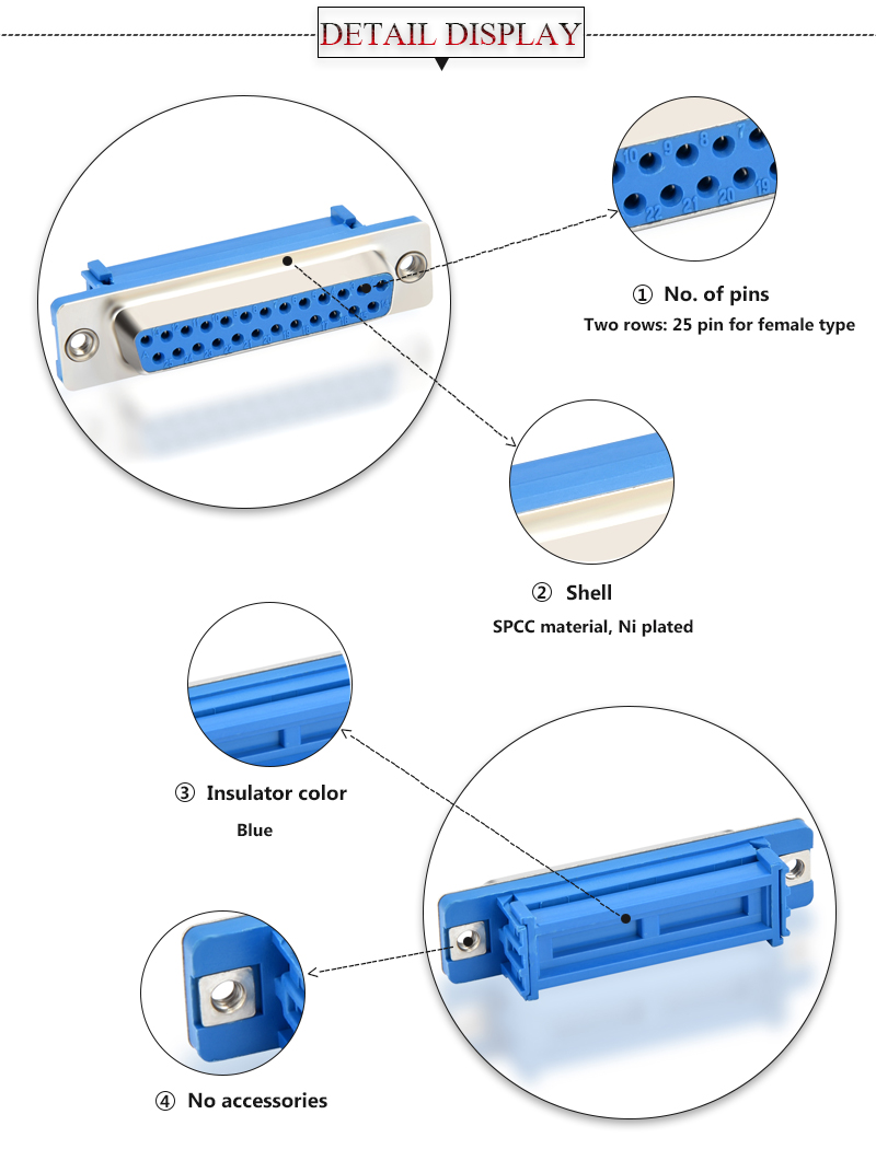25 pin d type connector