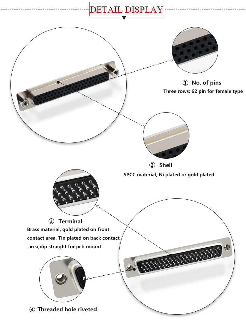 62 pin connector