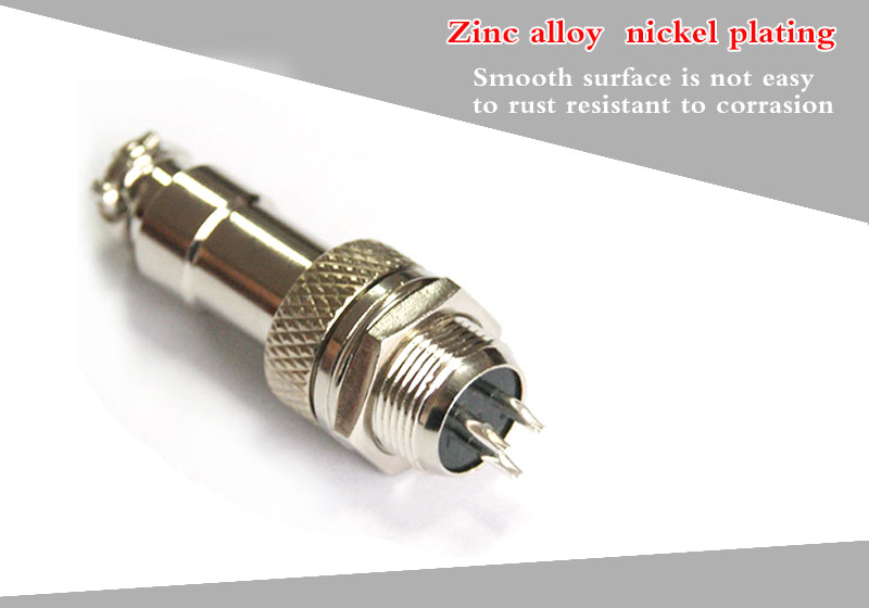 Standard industrial cable amp circular connectors 3 pin male
