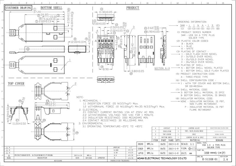 usb connector plug