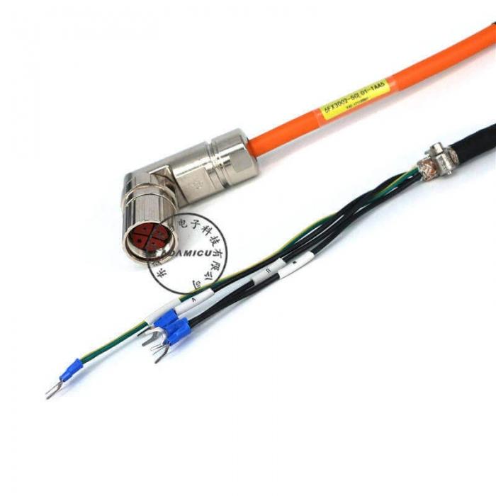 Circular 4p SIEMENS servo motor cable (5)