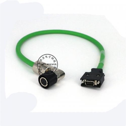 Circular 8p+scsi14p SIEMENS servo encoder cable (1)